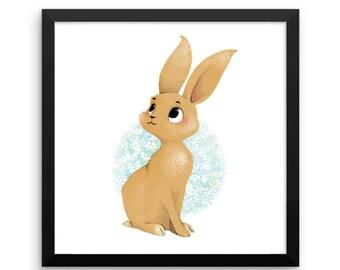 Animal Framed Nursery Print – Baby Rabbit