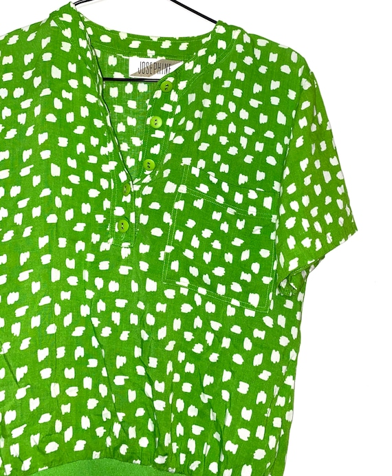 Vintage Lime Abstract Shirt - Retro Trendy Lime Gr
