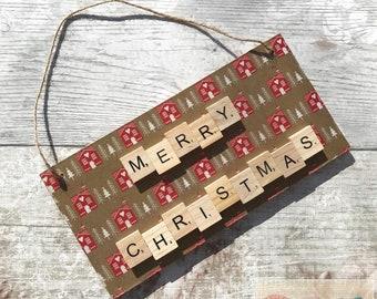 Merry Christmas Decoration / Christmas / Seasonal Wall Decor / Merry Christmas / Christmas Wall Art