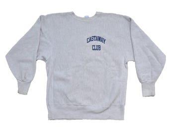 66c3c0ff4bac Vintage 1990s Champion Athletic Reverse Weave Castaway Club Sweatshirt    L     Activewear    Streetwear    90s    Sportswear    80s
