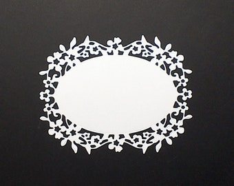 DOILEY GOLD FRAME LABEL PAPER CRAFT ALTER FOIL SMALL SCALLOP DRESDEN GERMANY ART