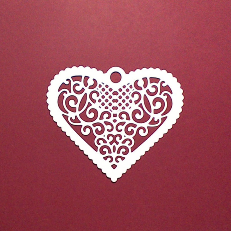 8 X Floral Heart Die Cut Embellishments Toppers Scrapbooking Card Making
