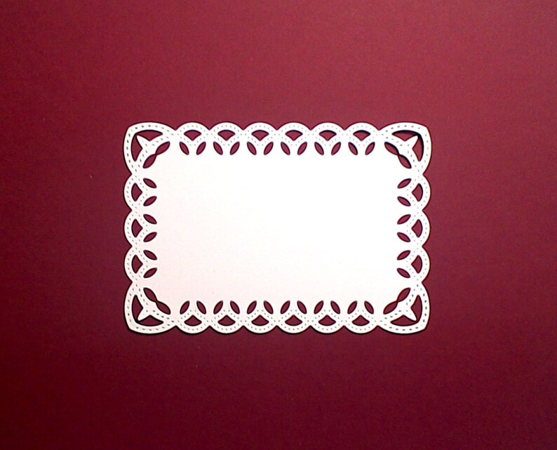 Lace Flower Corners Card Topper Scrapbooking Card Making