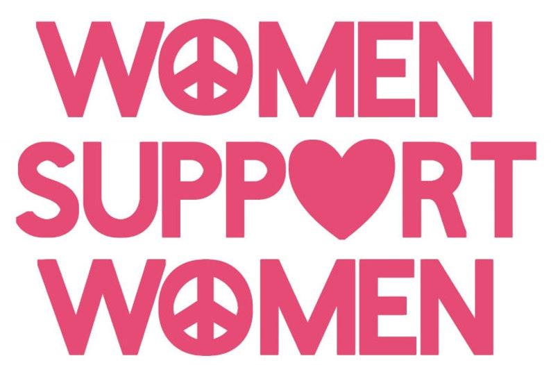 Women Support Women Bumper stickercar tattoodecal Pink black