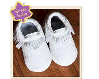 NicolaBaby genuine leather soft soled moccasins and sandals
