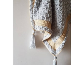 Quinn Baby Blanket PDF crochet pattern
