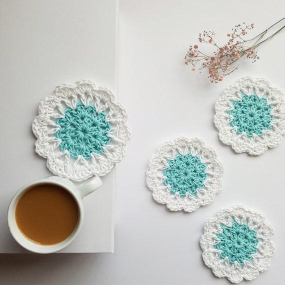 Early Morning Frost coasters PDF crochet pattern   Etsy