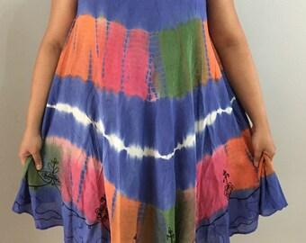 4731c02036 Hippy Boho Bohemian Umbrella Hawaiian Batik Dress Top Tunic Summer Beach Top