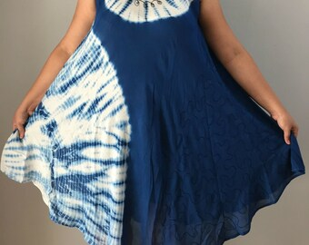 792e95ade2 Hippy Boho Bohemian Umbrella Batik Dress Tunic Top Free Style Summer Beach  Top