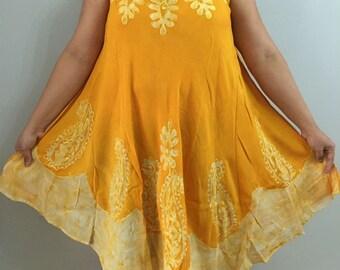 1b6d2e4deb Hippy Boho Bohemian Umbrella Batik Embroidery Dress Summer Beach Dress  Tunic Top