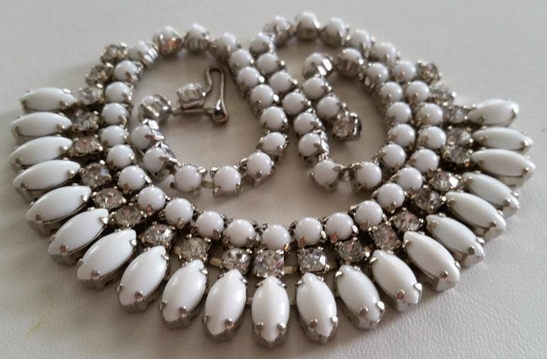 Tono argento 2 Fila Diamante Luccicante Collana girocollo strass cristalli