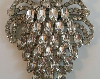 Vintage JULIANA Simply Stunning Delliza And Elster Rhinestone Brooch ~ Beautiful Authentic And Collectible Designer Vintage Jewelry