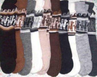 55bf43ef4 lot of 10 pairs of Peruvian alpaca socks natural colors