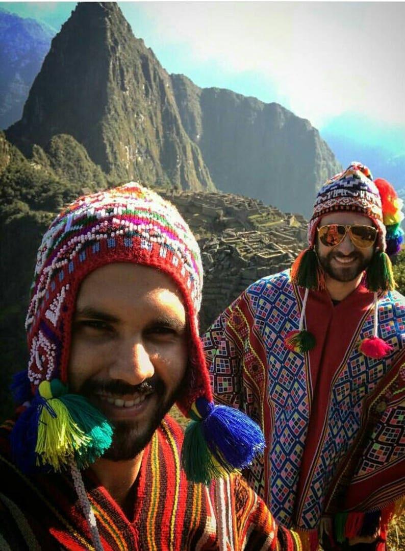 9b30491e82d Peruvian Andean Mountain Beaded hat Wool Blend Winter Hat