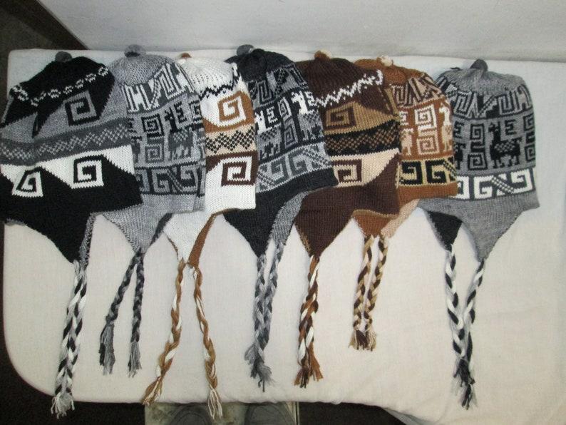 c8ec2975785 Lot of 10 peruvian alpaca Reversible chullo hats earflap