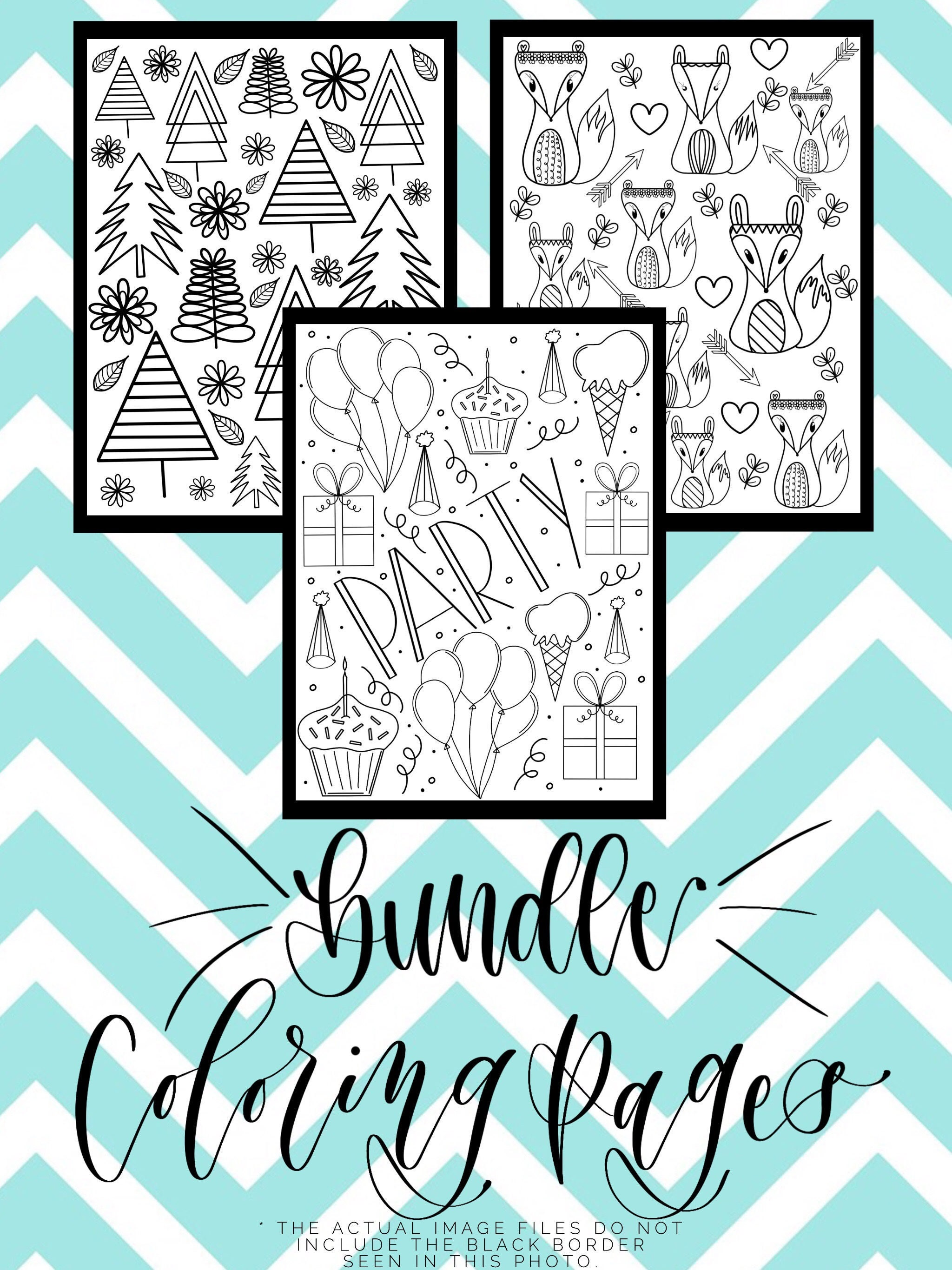 3-Pack of DIY Printable Coloring Page Adult Colouring Sheet   Etsy