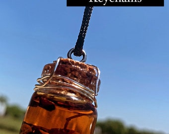 Protection and rid the bad vibes Potion Keychain/Necklace