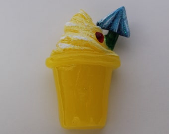 Dole whip inspired resin pin