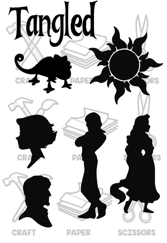 Tangled Inspired Frying Pan Charachter Silhouettes Etsy