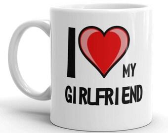 I Love Heart My Girlfriend Gift Mug