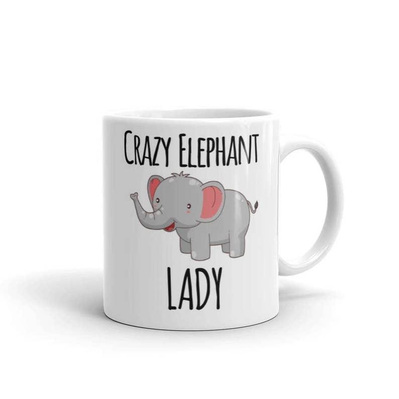 Mug Mug/_Ani/_122 Beware Crazy Elephant Lady!