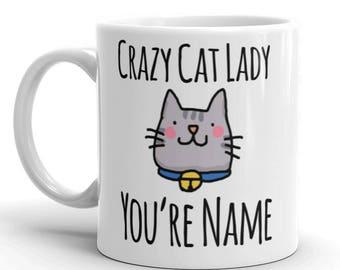 Crazy Cat Lady Personalised Mug