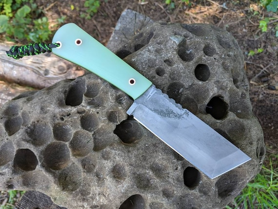 EDC Chopper Tanto Knife  / fixed blade knife / bushcraft knives / camping gear / chopper knife