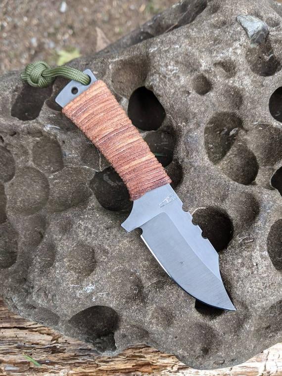 Mini Bowie EDC Knife / mini knife / hand made knife / survival knife / bushcraft knife