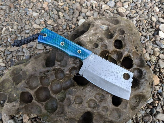 Mid size EDC Cleaver. custom handmade fixed blade bushcraft chopper