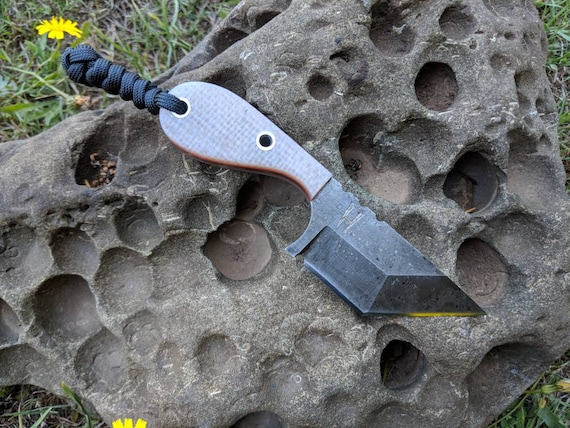 Straight Back Handmade Tanto EDC Knife