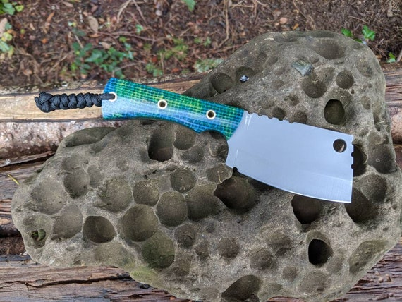 EDC Cleaver #2 Aeb-L stainless steel / hand made knife / mini cleaver / Bushcraft knife