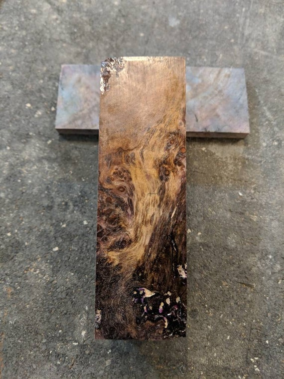 Stabilized burl block purple