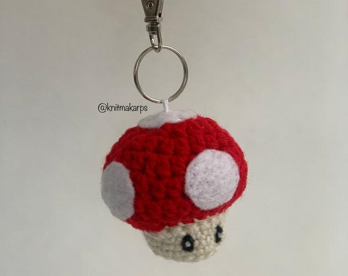 Featured listing image: Super Mario Mushroom Keychain