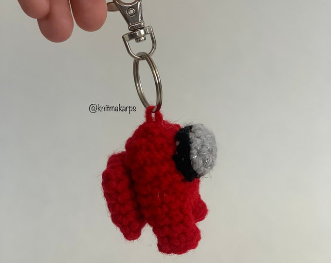 Featured listing image: Mini Among Us Plush Doll Keychain (2 in)