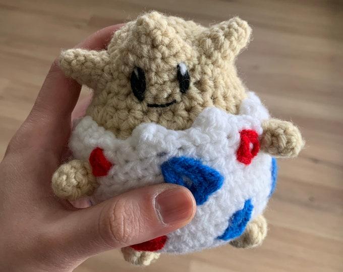 Featured listing image: Mini Togepi Plush Amigurumi Doll (Crochet)