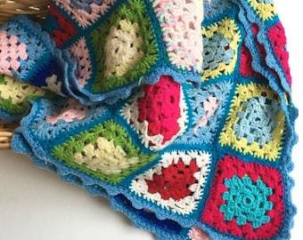 lovely vintage granny blanket