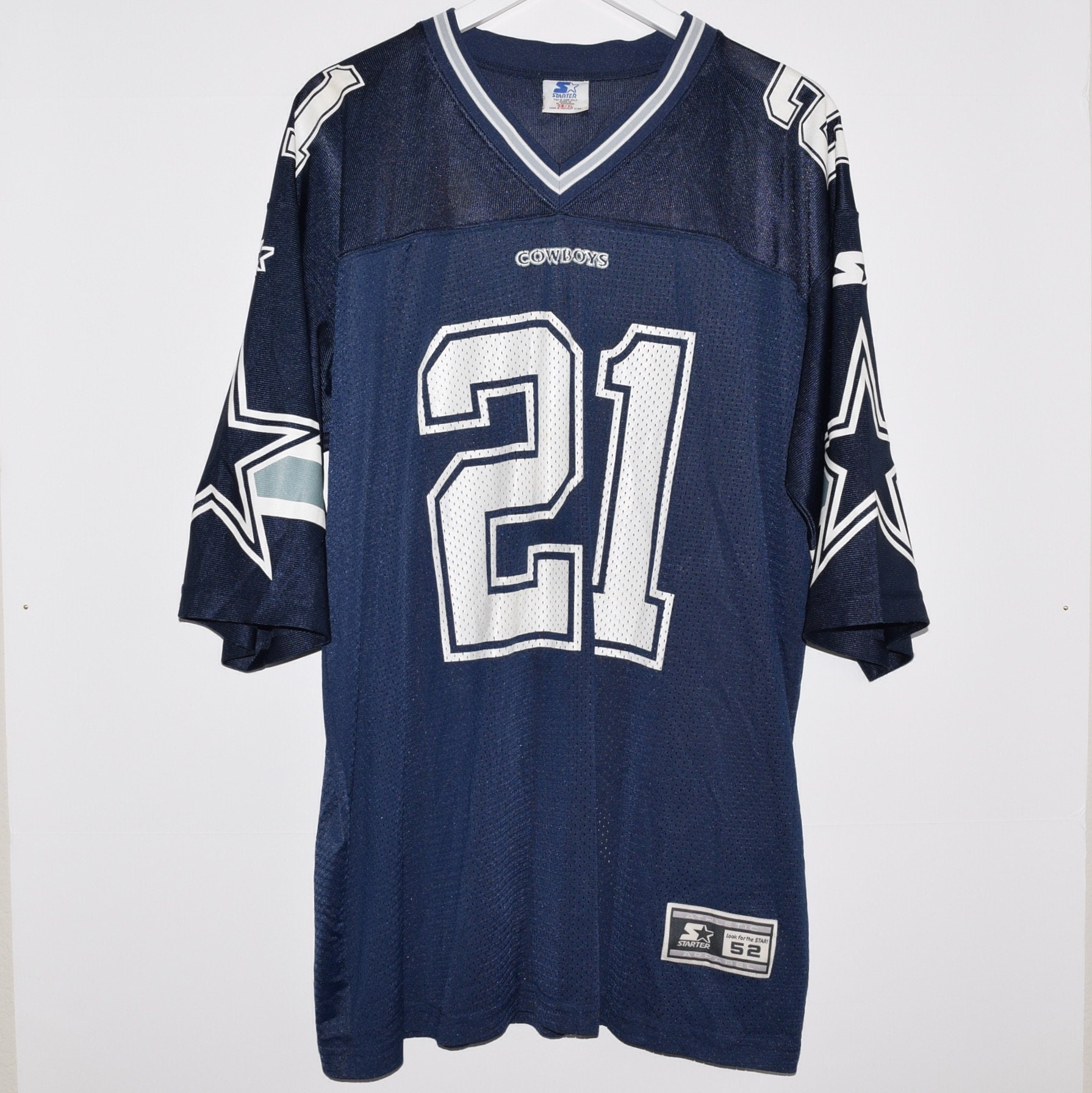 premium selection 4430f 25202 NEW Vintage 1995 Deion Sanders 21 Dallas Cowboys Starter Football Jersey 52  XL