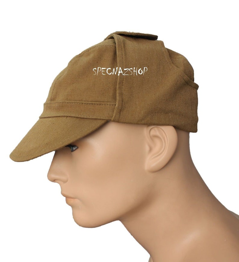 Afghan War Uniform Cap Sand Color USSR Army Surplus  Original Officers AFGHANKA CAP
