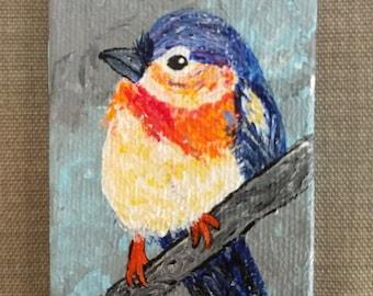 Tiny Vibrant Blue Bird