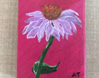 Purple Flower Tiny Painting