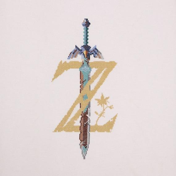 Legend of Zelda Breath of the Wild Logo Cross Stitch Pattern | Etsy