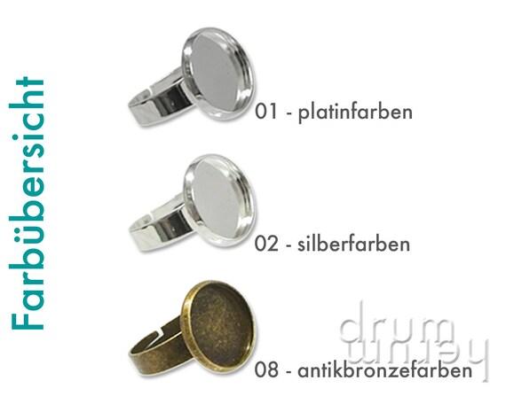 10 Cabochons Kunstoff 12mm