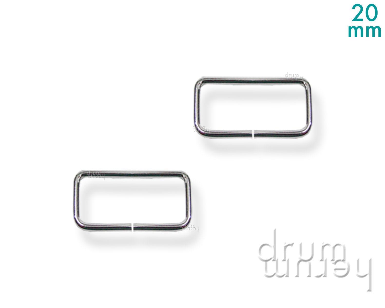 20mm breit 10 D-Ringe Grundpreis: 0,10 €//Stück Farbe: weiß Kunststoff