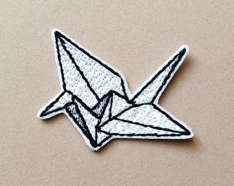 Origami patch Origami crane patch Iron on Patch origami paper crane  Embroidered Patch Gift for Origami lovers c4a5057683