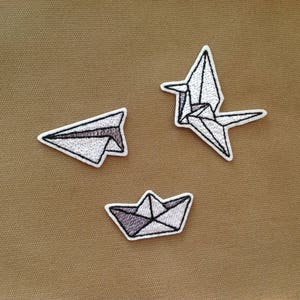 cute patches pack Iron on patch PACK Paper origami patch pack Small patch Embroidered patches for jackets