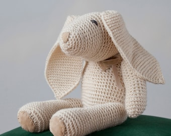 Knitted Bunny, Soft Wool Toy