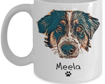 Custom Illustrated DOG MOM Mug Mothers Day Gift From Dog Personalized Art Funny Coffee For Moms Mama Birthday Travel