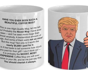 a3a4fe4a Funny Trump Mug VERY EXPENSIVE, IMPRESSIVE Gift Father's Day Mother's Day  Birthday Gifts for Conservatives Liberals Rambling Exaggerated Fun