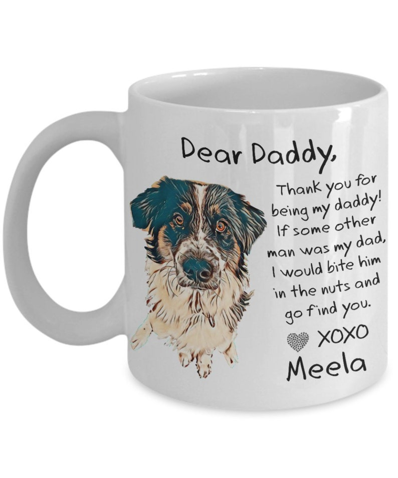 Custom Dog Dad From Mug Illustrated DadsBirthday Fathers ArtFunny Gift DogPersonalized Coffee Travel For HD2EWI9