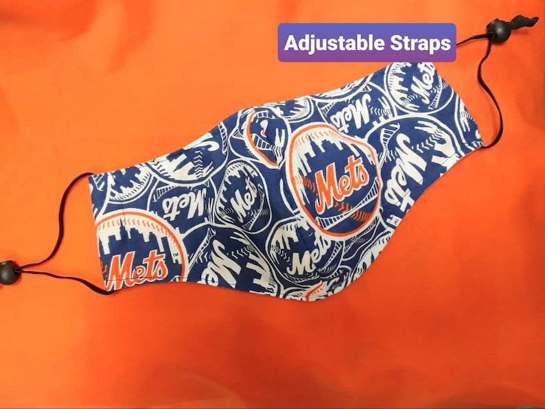 Face Mask  Adjustable  Made in USA  Washable  Reusable  Mets